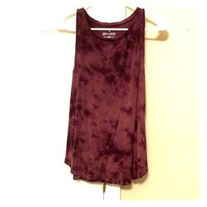 Soft and sexy tank, tie dye purple, purple tank